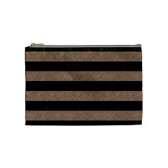 Stripes2 Black Marble & Brown Colored Pencil Cosmetic Bag (medium) by trendistuff