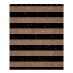 Stripes2 Black Marble & Brown Colored Pencil Shower Curtain 60  X 72  (medium) by trendistuff