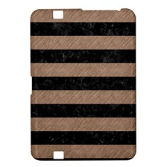 Stripes2 Black Marble & Brown Colored Pencil Kindle Fire Hd 8 9  Hardshell Case by trendistuff