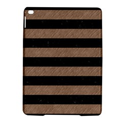 Stripes2 Black Marble & Brown Colored Pencil Apple Ipad Air 2 Hardshell Case by trendistuff