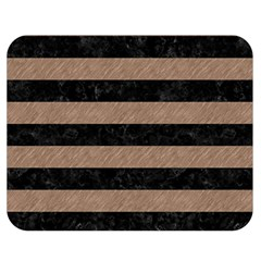 Stripes2 Black Marble & Brown Colored Pencil Double Sided Flano Blanket (medium) by trendistuff
