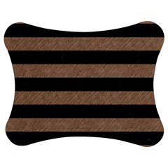 Stripes2 Black Marble & Brown Colored Pencil Jigsaw Puzzle Photo Stand (bow) by trendistuff