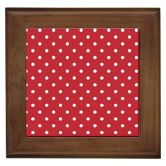 Red Polka Dots Framed Tiles by LokisStuffnMore