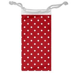 Red Polka Dots Jewelry Bag by LokisStuffnMore
