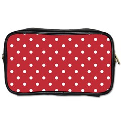 Red Polka Dots Toiletries Bags by LokisStuffnMore