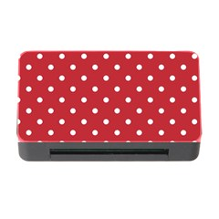 Red Polka Dots Memory Card Reader With Cf by LokisStuffnMore