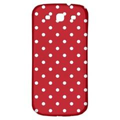 Red Polka Dots Samsung Galaxy S3 S Iii Classic Hardshell Back Case by LokisStuffnMore