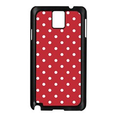 Red Polka Dots Samsung Galaxy Note 3 N9005 Case (black) by LokisStuffnMore