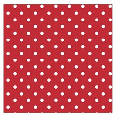 Red Polka Dots Large Satin Scarf (square) by LokisStuffnMore