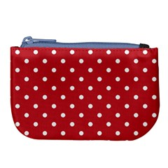 Red Polka Dots Large Coin Purse by LokisStuffnMore