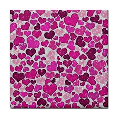 Sparkling Hearts Pink Face Towel by MoreColorsinLife
