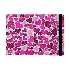 Sparkling Hearts Pink Apple Ipad Mini Flip Case by MoreColorsinLife