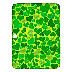 Sparkling Hearts, Green Samsung Galaxy Tab 3 (10 1 ) P5200 Hardshell Case  by MoreColorsinLife