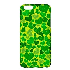 Sparkling Hearts, Green Apple Iphone 6 Plus/6s Plus Hardshell Case by MoreColorsinLife