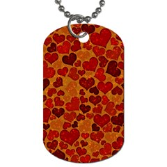 Sparkling Hearts,deep Red Dog Tag (two Sides) by MoreColorsinLife