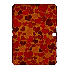 Sparkling Hearts,deep Red Samsung Galaxy Tab 4 (10 1 ) Hardshell Case  by MoreColorsinLife