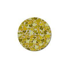 Sparkling Hearts,yellow Golf Ball Marker (10 Pack) by MoreColorsinLife