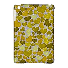 Sparkling Hearts,yellow Apple Ipad Mini Hardshell Case (compatible With Smart Cover) by MoreColorsinLife