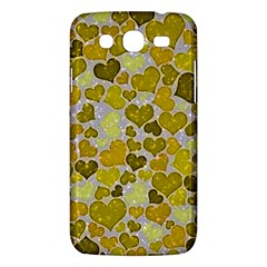 Sparkling Hearts,yellow Samsung Galaxy Mega 5 8 I9152 Hardshell Case  by MoreColorsinLife
