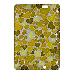 Sparkling Hearts,yellow Kindle Fire Hdx 8 9  Hardshell Case by MoreColorsinLife