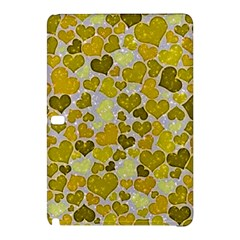 Sparkling Hearts,yellow Samsung Galaxy Tab Pro 12 2 Hardshell Case by MoreColorsinLife
