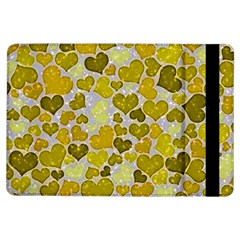 Sparkling Hearts,yellow Ipad Air Flip by MoreColorsinLife