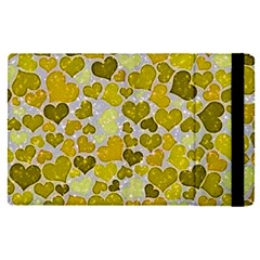 Sparkling Hearts,yellow Apple Ipad Pro 12 9   Flip Case by MoreColorsinLife