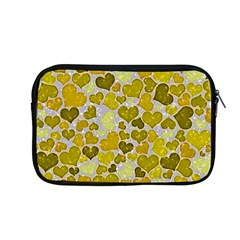 Sparkling Hearts,yellow Apple Macbook Pro 13  Zipper Case by MoreColorsinLife