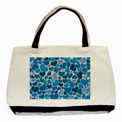 Sparkling Hearts, Teal Basic Tote Bag by MoreColorsinLife