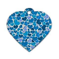 Sparkling Hearts, Teal Dog Tag Heart (two Sides) by MoreColorsinLife