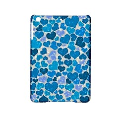 Sparkling Hearts, Teal Ipad Mini 2 Hardshell Cases by MoreColorsinLife