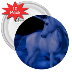 Magical Unicorn 3  Buttons (10 Pack)  by KAllan