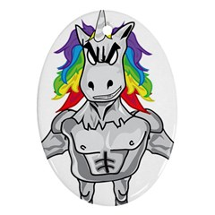 Angry Unicorn Ornament (oval) by KAllan