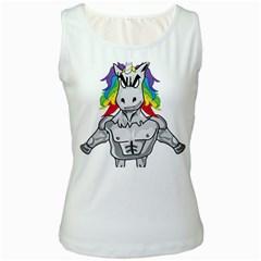 Angry Unicorn Women s White Tank Top by KAllan
