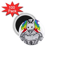 Angry Unicorn 1 75  Magnets (100 Pack)  by KAllan
