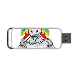 Angry Unicorn Portable Usb Flash (one Side) by KAllan