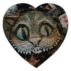Cheshire Cat Jigsaw Puzzle (heart) by KAllan