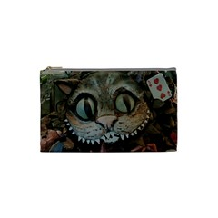Cheshire Cat Cosmetic Bag (small)  by KAllan