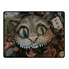 Cheshire Cat Double Sided Fleece Blanket (small)  by KAllan