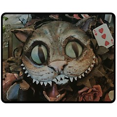 Cheshire Cat Double Sided Fleece Blanket (medium)  by KAllan