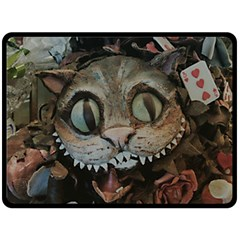Cheshire Cat Double Sided Fleece Blanket (large)  by KAllan