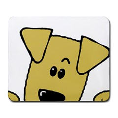 Peeping Yellow Lab Large Mousepads by TailWags