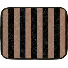 Stripes1 Black Marble & Brown Colored Pencil Fleece Blanket (mini) by trendistuff