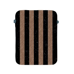 Stripes1 Black Marble & Brown Colored Pencil Apple Ipad 2/3/4 Protective Soft Case by trendistuff