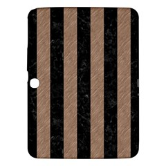 Stripes1 Black Marble & Brown Colored Pencil Samsung Galaxy Tab 3 (10 1 ) P5200 Hardshell Case  by trendistuff