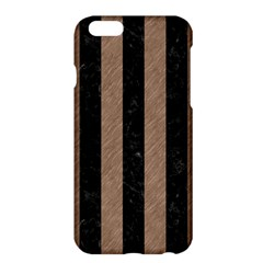 Stripes1 Black Marble & Brown Colored Pencil Apple Iphone 6 Plus/6s Plus Hardshell Case by trendistuff