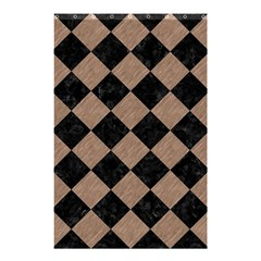 Square2 Black Marble & Brown Colored Pencil Shower Curtain 48  X 72  (small) by trendistuff