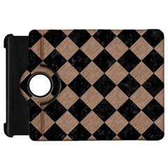 Square2 Black Marble & Brown Colored Pencil Kindle Fire Hd Flip 360 Case by trendistuff