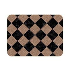 Square2 Black Marble & Brown Colored Pencil Double Sided Flano Blanket (mini) by trendistuff