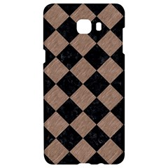 Square2 Black Marble & Brown Colored Pencil Samsung C9 Pro Hardshell Case  by trendistuff